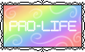 Pro-Life - Pastel Rainbows - Stamp by Starrceline