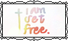 I Am Set Free - Stamp by Starrceline