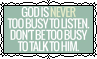 God Is Never Too Busy To Listen - Stamp by Starrceline