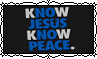 K(no)w Jesus K(no)w Peace - Stamp by Starrceline