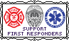 Support First Responders - Stamp by Starrceline
