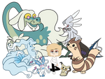 Marvin's Poketeam :Commission: by Starrtoon