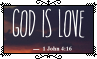 God Is Love - Stamp by Starrceline