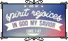 And My Spirit Rejoices In God My Savior - Stamp by Starrceline
