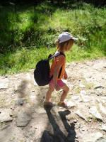The little girl in mountains by krzysiu-jarzyna