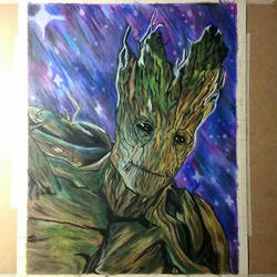Groot from Guardians of a the Galaxy  by xXCrash45