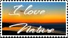 Stamp I love Nature by JassysART