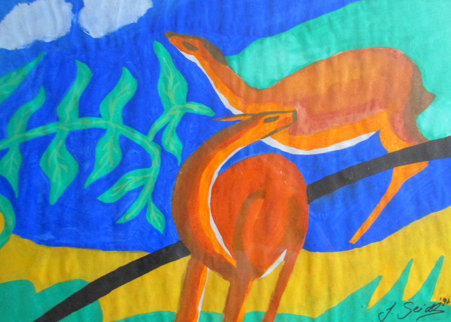 Deers - a Tribute to Franz Marc by Jassy2012