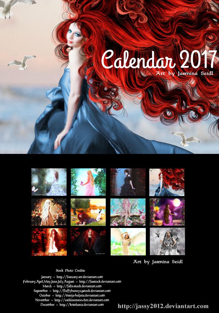 Art Calendar 2017 - Version B by Jassy2012