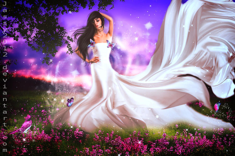 Beautiful White Lady by JassysART