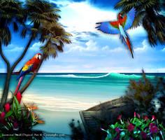 Paradise Beach by JassysART
