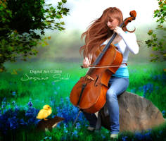 Listen To My Music Sweet Little Friends by JassysART