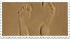 Footprints In Sand Stamp by JassysART