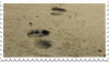 Footprints In Sand Stamp 002 by JassysART