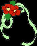 Flower Veil Deco Pixel Art 003