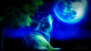 Moonstruck of a Wolf by JassysART