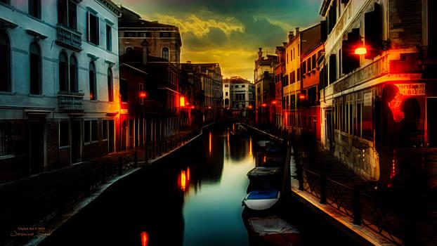 Venice by Night - Wallpaper