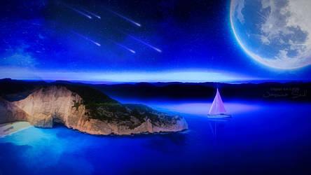 Deep Blue Calm Sea