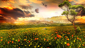 Flower Field by JassysART
