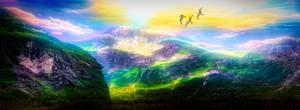 Mountains Panorama by JassysART