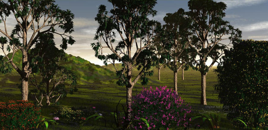 Landscape with Trees by JassysART