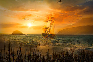 Soft Sunset by JassysART