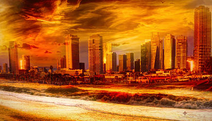 City in Gold by JassysART