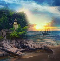 Sail Peacefully by JassysART