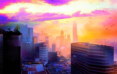 Pink City by JassysART