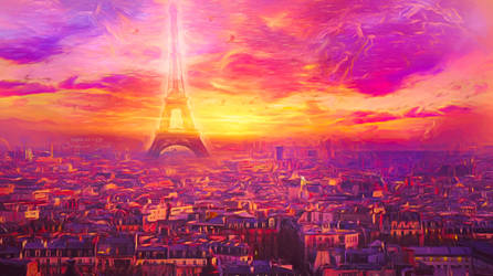 Pink Paris by JassysART