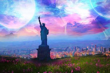 City of Liberty by JassysART