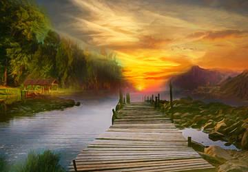 Idyllic Landscape by JassysART