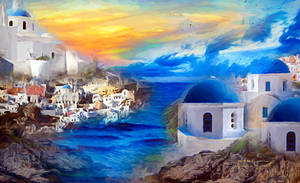 Santorini Dreamscape by JassysART
