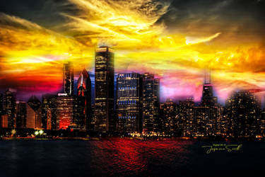 Skyline by Nightt by JassysART