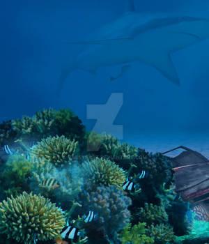 Premium Premade BG Nature Underwater 318