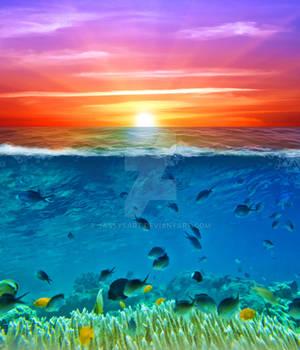 Premium Premade BG Nature Underwater 319