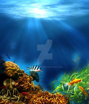 Premium Premade BG Underwater 546