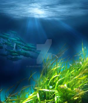 Premium Premade BG Underwater 547