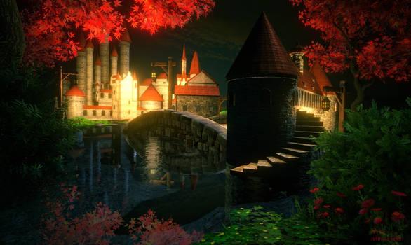 Castle Fairytale by Night