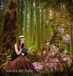 Inmersa en su Lectura-Sandra del Valle