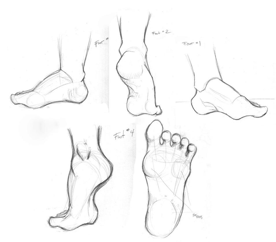 Foot Study by TwilightsDon on DeviantArt