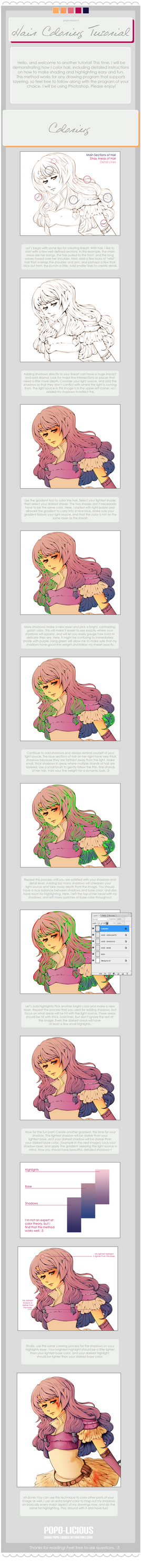 Hair Coloring Tutorial by Popo-Licious