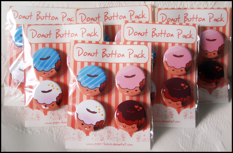 Donut Button Packs by Popo-Licious