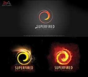 SUPERFIRED logo by REDFLOOD