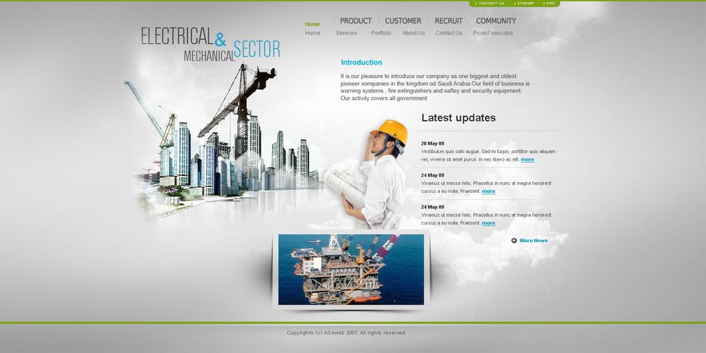 Electrical website by REDFLOOD on DeviantArt