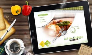 Real Men Eat Veggies ipad v2 by REDFLOOD