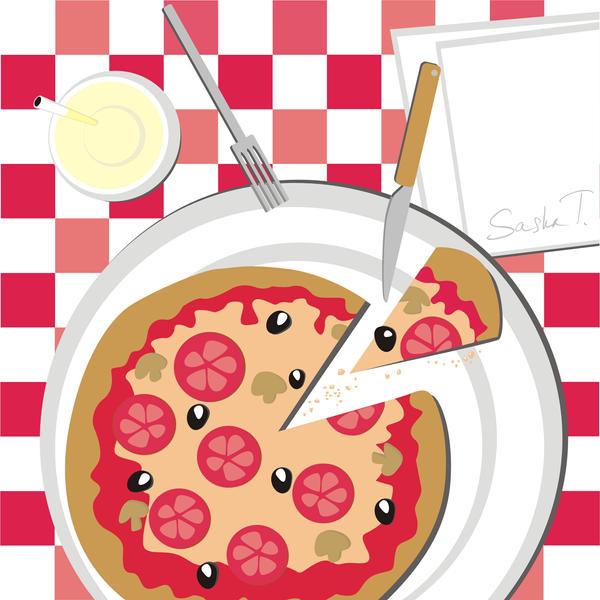 Pizza, je t'aime by AleksandraTorbina