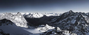 View from Schwarz Wand 2 3105m