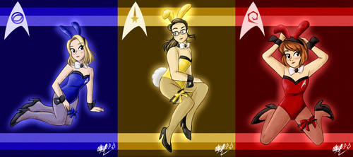 AO: Starfleet Playboy Bunnies by Gentle-As-A-Lily