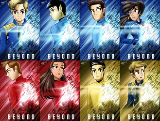 ST: Beyond Main Crew Posters by Gentle-As-A-Lily
